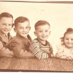 4 kids sepia