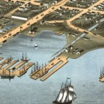 Bird's eye view of the city of Erie, Erie County, Pennsylvania 1870. Chicago Lithographing Co. (Library of Congress online map collection)